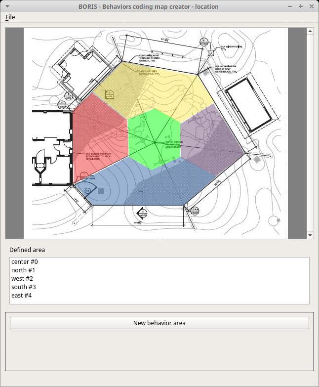 Behaviors coding map
