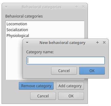 Behavioral categories